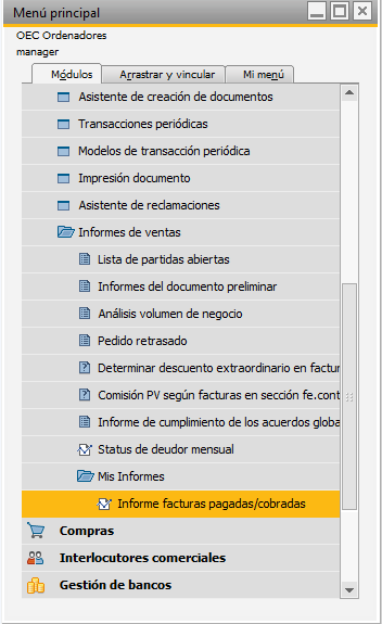 Paso 5 Importar informes a SAP Business One
