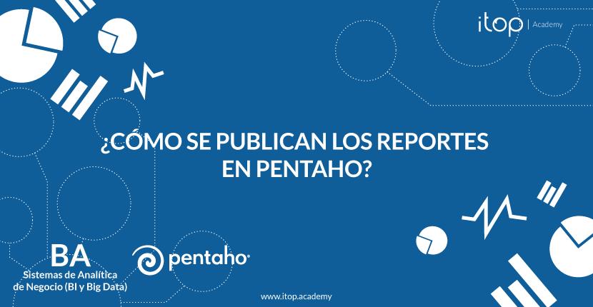 ¿Cómo se publican los reportes en Pentaho?