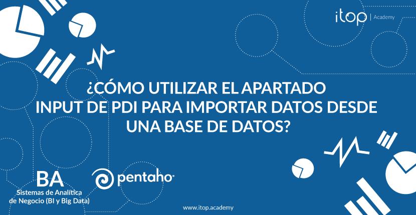¿Cómo utilizar el apartado Input de PDI para importar datos desde una base de datos?
