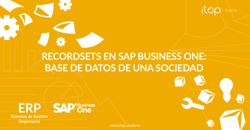 Recordsets en SAP Business One: Base de datos de una sociedad
